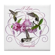 I love hummingbirds 2 Tile Coaster