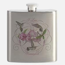 I love hummingbirds 2 Flask