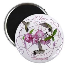 I love hummingbirds 2 Magnet