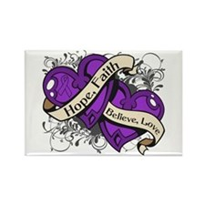 Cystic Fibrosis Hope Hearts Rectangle Magnet