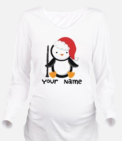 Personalized Christmas Clarinet Penguin Long Sleev