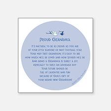 """Proud Grandma Ornament Square Sticker 3"""" x 3"""""""