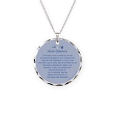 Proud Grandma Ornament Necklace Circle Charm