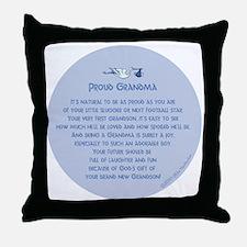 Proud Grandma Ornament Throw Pillow