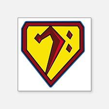 "SuperBass Square Sticker 3"" x 3"""