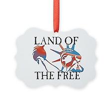 land free blk dark Ornament