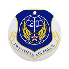 20th Air Force Round Ornament