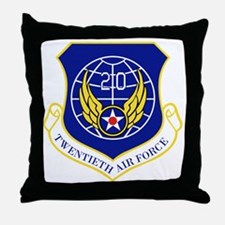 20th Air Force Throw Pillow