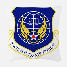 20th Air Force Woven Throw Pillow