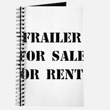 Frailer For Sale or Rent Journal