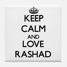 Keep Calm and Love Rashad Tile Coaster