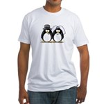 Bride and Groom Penguins Fitted T-Shirt