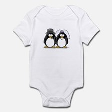 Bride and Groom Penguins Infant Bodysuit