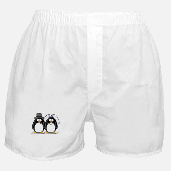 Bride and Groom Penguins Boxer Shorts