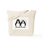 Bride and Groom Penguins Tote Bag