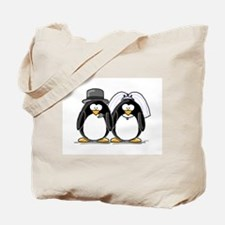Bride and Groom Penguins Tote Bag