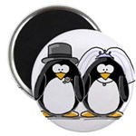 Bride and Groom Penguins Magnet
