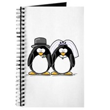 Bride and Groom Penguins Journal