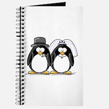 Bride and Groom Penguins Journal