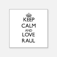 Keep Calm and Love Raul Sticker