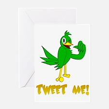 tweet me! Bird Greeting Card