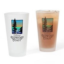 Californias Redwood Coast Drinking Glass