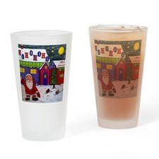 merry christmas wall cal Drinking Glass