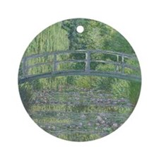The Waterlily Pond: Green Harmony,  Round Ornament