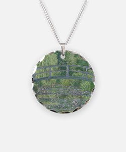 The Waterlily Pond: Green Ha Necklace Circle Charm