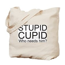 Stupid Cupid Anti Valentine's Day Tote Bag