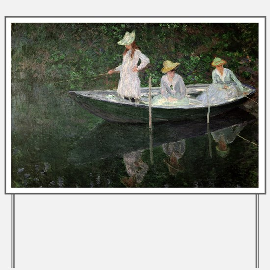 The Boat at Giverny, c.1887  by Claude M Yard Sign