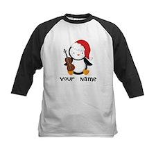 Personalized Christmas Violin Music Penguin Baseba