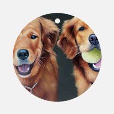 Goldens Round Ornament