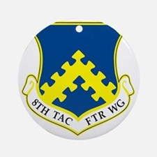 8th Tactical Fighter Wing Round Ornament