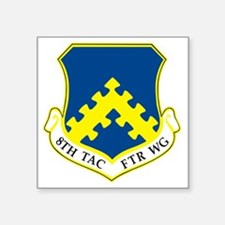 "8th Tactical Fighter Wing Square Sticker 3"" x 3"""