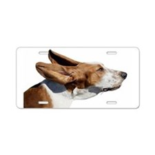 Cute Basset hound Aluminum License Plate