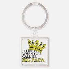Big Papa Square Keychain