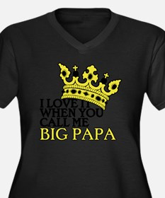 Big Papa Women's Plus Size Dark V-Neck T-Shirt
