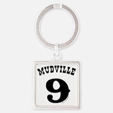 Mudville9 (black) Square Keychain