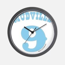 Mudville9 (baby blue) Wall Clock