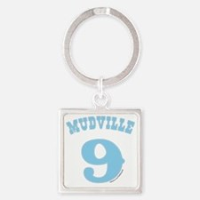 Mudville9 (baby blue) Square Keychain