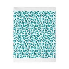 Blue Leopard Print Twin Duvet