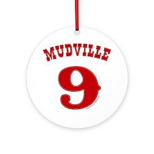 Mudville9 (red) Round Ornament