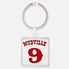 Mudville9 (red) Square Keychain