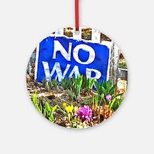 NO WAR 10 Round Ornament