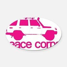 Car Oval Car Magnet