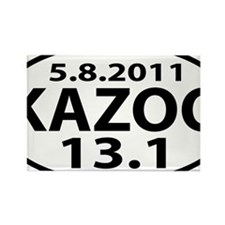 KAZOO 13.1 - half marathon Rectangle Magnet