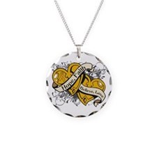 Appendix Cancer Hope Hearts Necklace