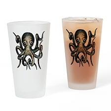 sinister_octopus_black_eyes Drinking Glass