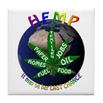 Hemp Planet Tile Coaster